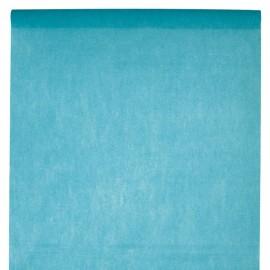 Nappe en intissé turquoise - rouleau de 120 cm x 10 M