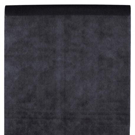 Nappe en intissé noir - rouleau de 120 cm x 10 M