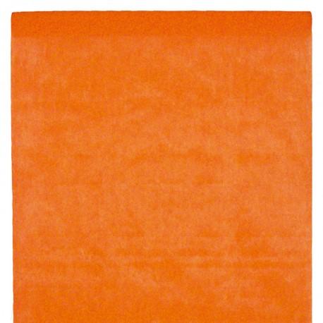 Nappe en intissé orange - rouleau de 120 cm x 10 M