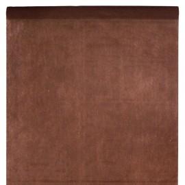 Nappe en intissé chocolat - rouleau de 120 cm x 10 M