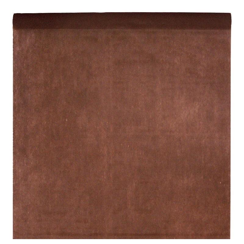 nappe en intiss chocolat rouleau de 120 cm x 10 m nappe grande largeur. Black Bedroom Furniture Sets. Home Design Ideas