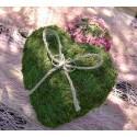 Coussin alliances coeur mousse vert