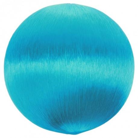 Boule fil turquoise scintillant 3 cm les 12