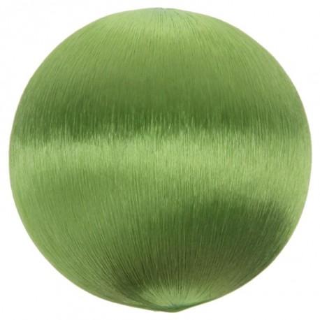 Boule fil vert scintillant 3 cm les 12