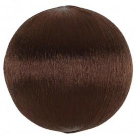 Boules fil chocolat scintillant 3 cm les 12