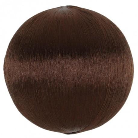 Boule fil chocolat scintillant 3 cm les 12