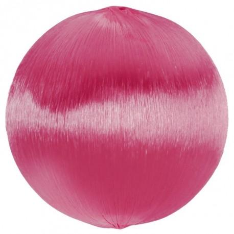 Boule fil fuchsia scintillant 3 cm les 12