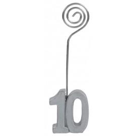 Marque-place anniversaire 10 ans argent les 2