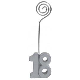Marque-place anniversaire 18 ans argent les 2