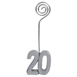 Marque-place anniversaire 20 ans argent les 2