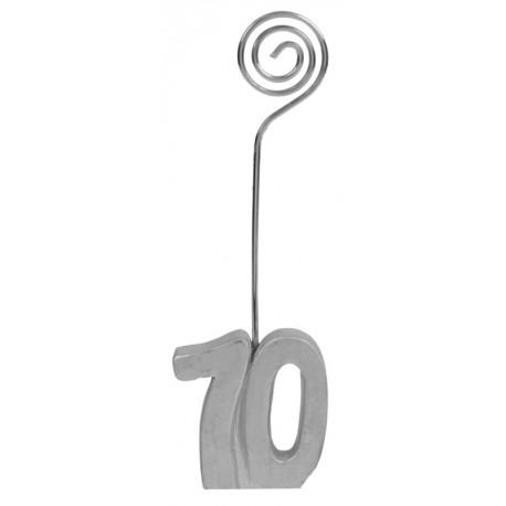 Marque-place anniversaire 70 ans argent les 2