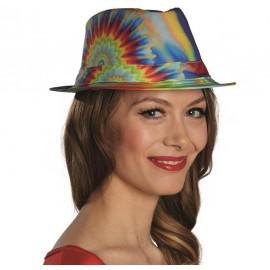 Chapeau borsalino hippie batik adulte