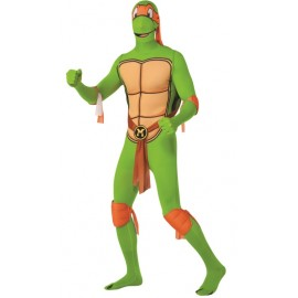 Déguisement Michelangelo Tortue Ninja™ seconde peau adulte 2nd Skin