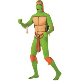 Déguisement Michelangelo Tortues Ninja™ seconde peau adulte 2nd Skin