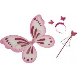 Set accessoires papillon rose enfant