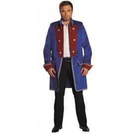 Déguisement manteau officier bleu homme