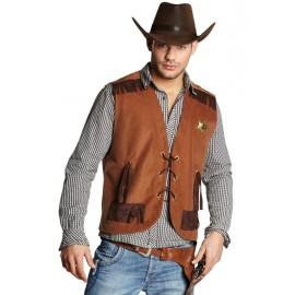 Déguisement gilet cowboy homme