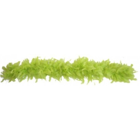 Boa Vert Amande en Plumes de Decoration