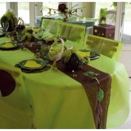 Nappe en intissé vert anis 150 x 300 cm