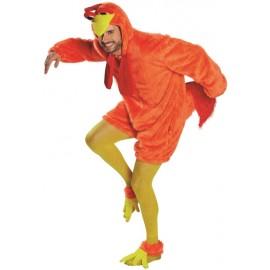 Déguisement poulet orange adulte