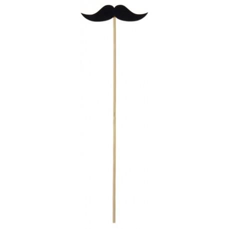 Moustache en bois sur tige les 2