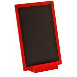 Grande ardoise en bois rouge 15 cm