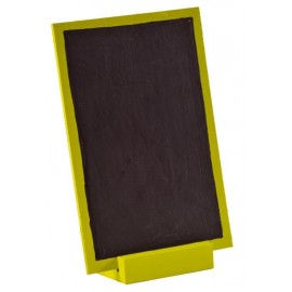 Grande ardoise en bois vert anis 15 cm