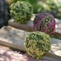 Boules printanières vertes 5 cm les 4