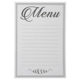 Menus blancs avec lignes en papier 15 cm les 10