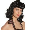 Perruque noire années 50 femme