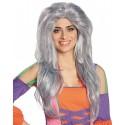Perruque sorcière grise longue femme