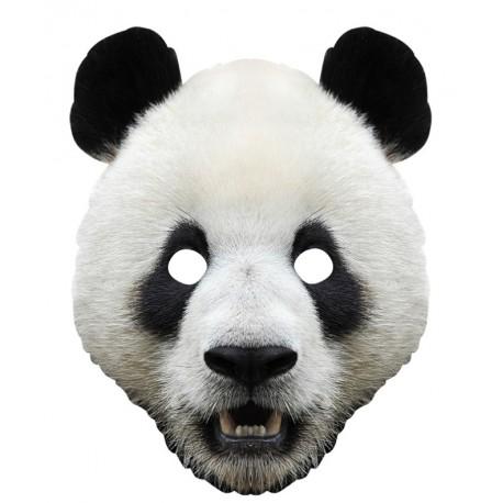 Masque carton panda