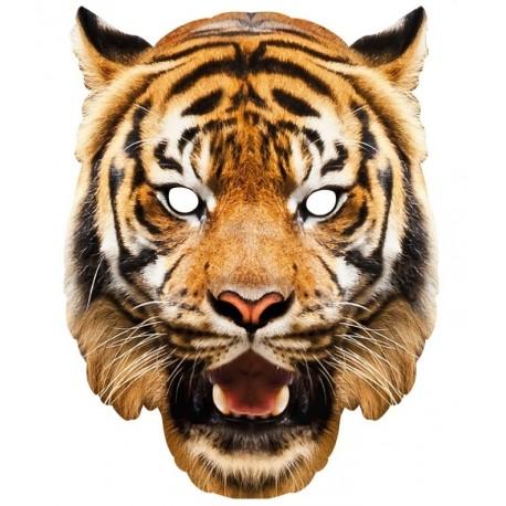 Masque carton tigre