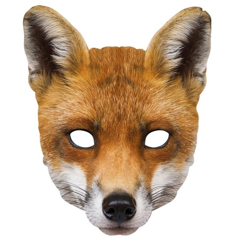 Masque carton renard masques carton renard achat masques carton animaux - Masque de renard a imprimer ...
