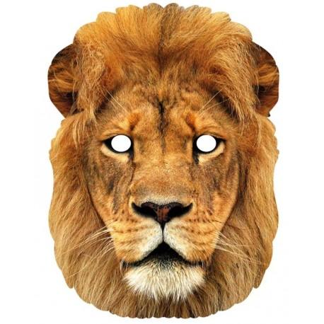 Masque carton lion
