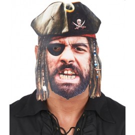 Masque carton pirate homme