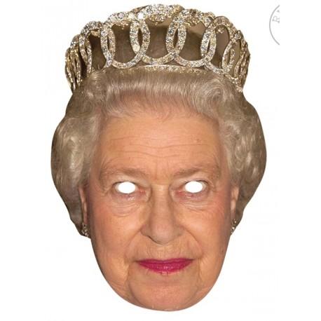 Masque carton Reine Elisabeth