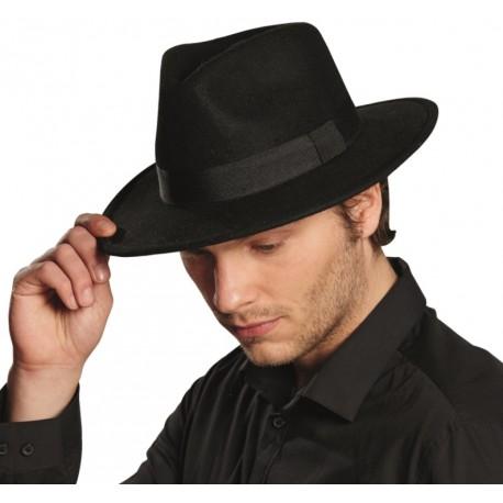 Chapeau gangster noir homme