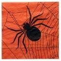 Serviettes de table Halloween papier orange noir les 20