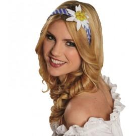 Serre-tête fleur Edelweiss femme