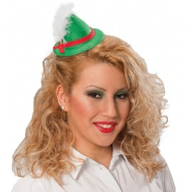 Mini chapeau bavarois vert femme