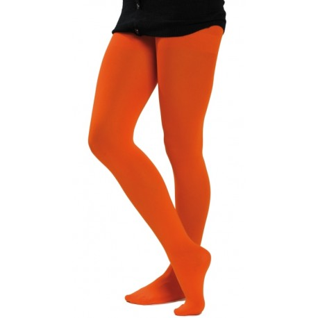 Collant fluo orange femme