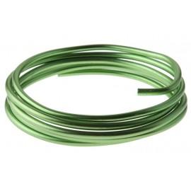 Fil métallique vert en aluminium 5 mm x 2 M
