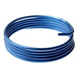 Fil métallique bleu en aluminium 5 mm x 2 M