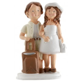 Figurine couple de voyageurs