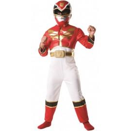 Déguisement Power Rangers Megaforce rouge garçon luxe Boîte vitrine