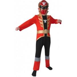 Déguisement Power Rangers™ rouge garçon super megaforce™