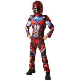 Déguisement Power Rangers™ Rouge garçon luxe - Film