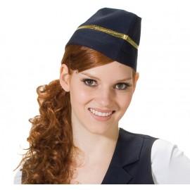 Calot hôtesse de l'air bleu femme