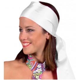 Foulard blanc satin luxe mixte
